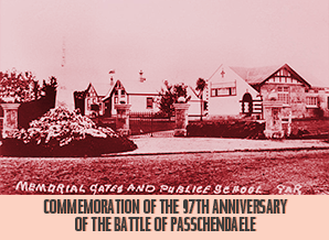 Commemoration of the 97th Anniversary of the Battle of Passchendaele.