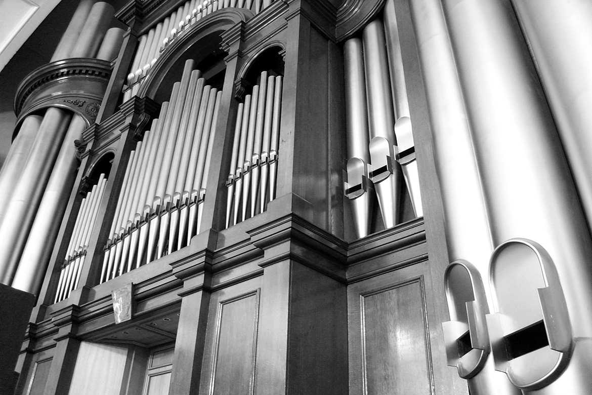 The organ in the Town Hall