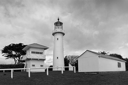 Tiritiri Lighthouse in the early morning.