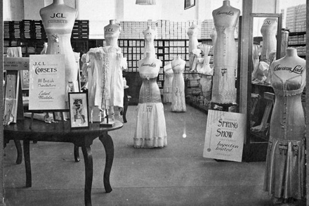 John Court Limited: corset department, 1916.