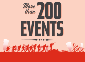 More than 200 events.